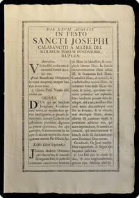 [drop-title] Die XXVII. augusti. In festo Sancti Josephi Calasanctii a Matre Dei. Scolarum piarum fundatoris, duplex.