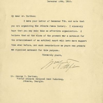 13/12/1914. William Taft Many Americans were greatly concerned by the outbreak of World War I in Eur...