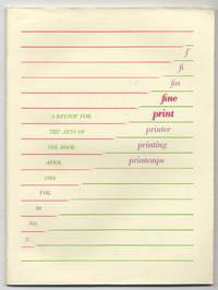 image of Fine Print: Volume 10, Number 2, April, 1984