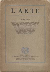 L'ARTE; Volume 1 New Series by  Adolfo and Lionello (eds.) Venturi - Paperback - First edition - 1930 - from ANTHOLOGY BOOKSELLERS (SKU: 21349)