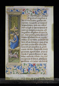 Leaf from the New Testament, in Latin. From the Gospel of St. Luke.