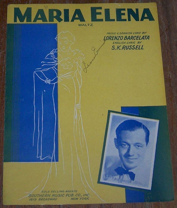 MARIA ELENA WALTZ, Sheet Music