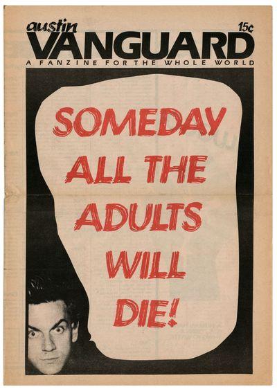 Austin: Austin Vanguard, 1977. 4to, tabloid format, single sheet of newsprint folded once; offset pr...
