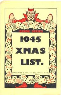 1945 Xmas List [ a Catalog or Catalogue of Magic tricks ]