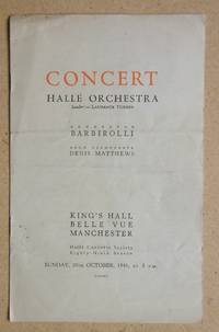 image of Halle Orchestra. Concert Programme. 20th October 1946.