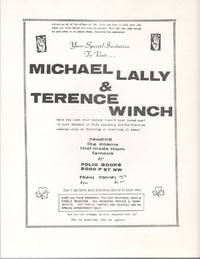 YOUR SPECIAL INVITATION TO VISIT... [Flyer for a Reading by Michael Lally and Terence Winch at...