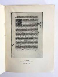 [INCUNABULA REFERENCE]. Catalogo de incunabulos da Biblioteca Nacional do Rio de Janeiro