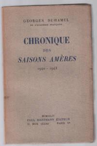 image of Chroniques des saisons amères 1940-1943