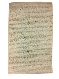 Autograph Letter Signed to Sarah Yarnall. Dated New York 6mo [June?] 17th 1840