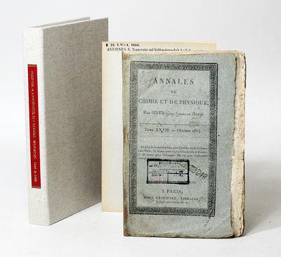 Paris and Stockholm: Chez Crochard and Kungl. Boktryckereit/ P.A. Norstedt & Söner, 1824. First edi...