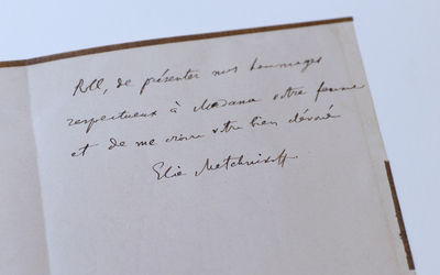 Autograph letter signed to M. Roll