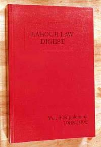 Labour Law Digest Volume 3 Supplement
