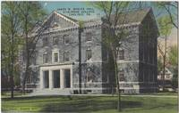 James W. Bosler Hall Dickinson College, PA, unused linen Postcard