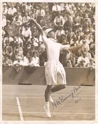 image of Fine Action Photo by the Photographic  News Archives of Fleet Street, signed and dated (Henry Wilfred., 'Bunny', 1906-2000, English tennis player)
