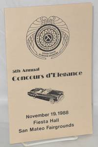 5th annual concours d'elegance [program] November 19, 1988 Fiesta Hall San Mateo fairgrounds