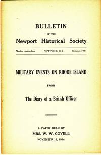 image of MILITARY EVENTS ON RHODE ISLAND FROM THE DIARY OF A BRITISH OFFICER  Bulletin of the Newport Historical Society