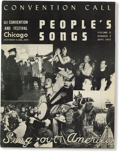 New York: People's Songs, Inc, 1947. First Edition. Paperback. Early issue of this important folk mu...