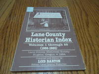 Lane County Historian Index; Volumes 1 through 28 (1956-1983)