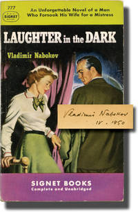 image of Laughter in the Dark (First Edition in paperback, signed by the author in 1950 to his publisher)
