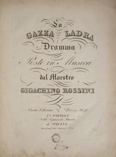 Pariggi: Pacini , 1822. Folio. Full contemporary green textured cloth. 1f. (title), 1f. (thematic ta...