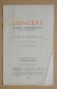 Halle Orchestra. Concert Programme. 15th & 16th October 1947. by Albert Hall - Paperback - 1946 - from N. G. Lawrie Books. (SKU: 47267)