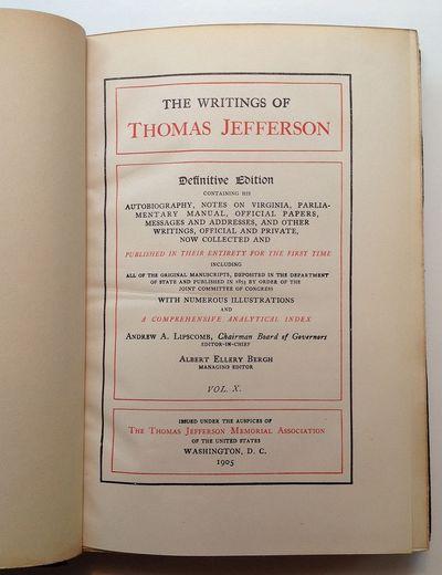 Washington: Thomas Jefferson Memorial Assoc, 1905. hardcover. very good(+). Numerous illustrations w...