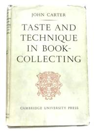 Taste and Technique in Book-Collecting