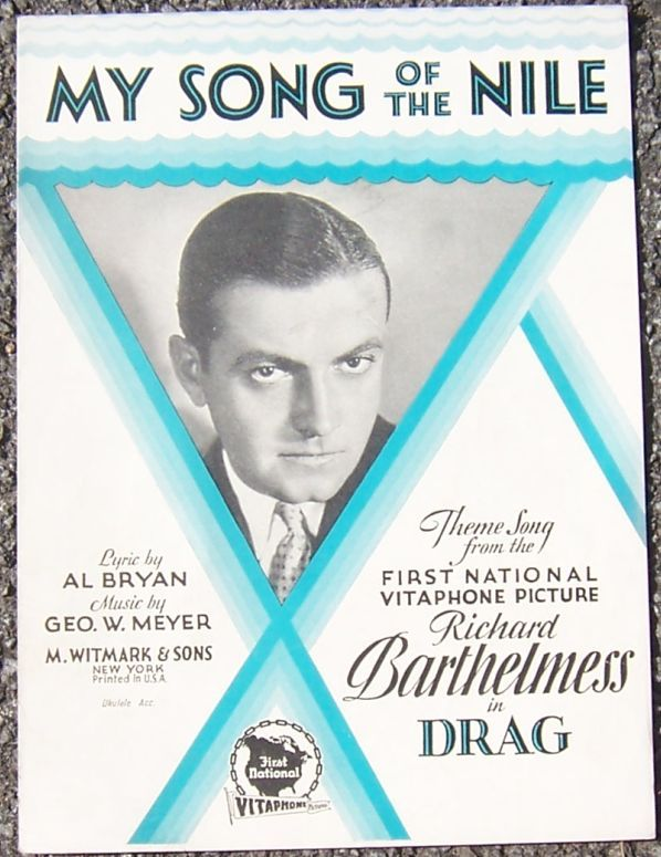 MY SONG OF THE NILE, Sheet Music