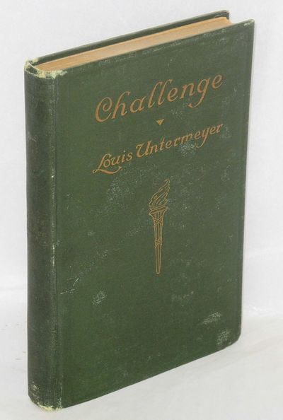 New York: New Century Co, 1914. 144p., first edition, edge worn original green cloth binding, hinges...