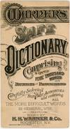 View Image 2 of 8 for Warner's Safe Dictionary - Comprising over 5000 Words with Definitions and Pronunciations plus testi... Inventory #28001467