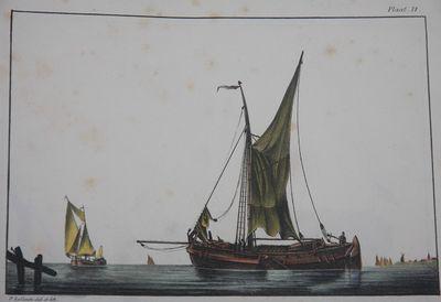Amsterdam: F. Kaal. Lithography by Desguerrois en Co. , 1831. Half Calf. Marbled paper on boards. . ...
