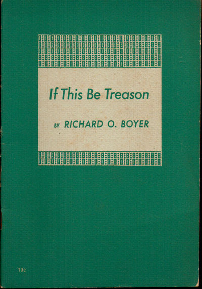 NY: New Century Publishers, 1948. Paperback. Very good. 31pp. pamphlet. Wraps darkened else a very g...