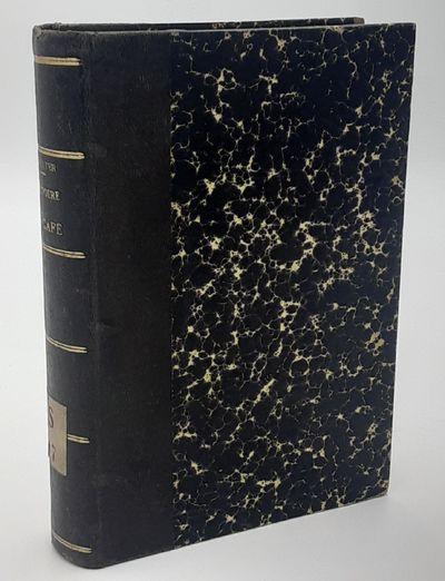 Paris. : Reinwald., 1868. Quarter black calf over marbled boards. . Very good, paper catalog number ...