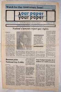 image of Our Paper, Your Paper; the gay family paper of the Santa Clara Valley; vol. 2, #16, August 17, 1983