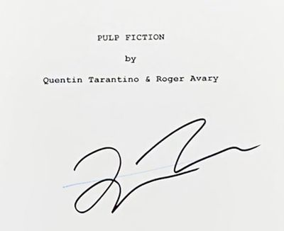 Academy Award-winning Best Original Script by Quentin Tarantino & Roger Avary. The screenplay is sig...