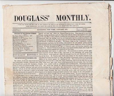 Frederick Douglass' Newspaper Reports...