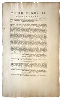 Third Congress of the United States, 1794, Formalizes Pensions for the First Ever American Veterans