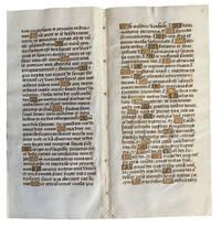 [Finely Illuminated Vellum Manuscript Signature in Latin, perhaps France, ca. late 15th Century].