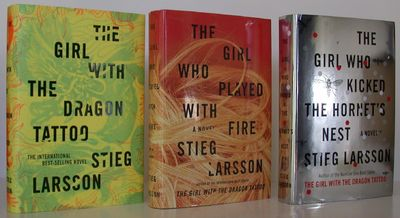 Knopf. 1st Edition. Hardcover. Fine/Fine. FIRST US EDITIONS of Stieg Larsson's The Girl with the Dra...