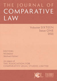 image of The Journal of Comparative Law. ANNUAL SUBSCRIPTION
