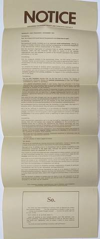 image of Notice concerning the reigning society and those who contest it [broadside]