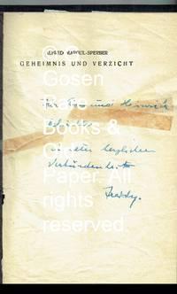 image of Geheimnis und Verzicht Gedichte.