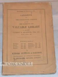 London: Puttick and Simpson, 1869. original stiff paper wrappers. Swanston, Clement T.. 8vo. origina...