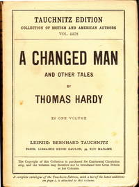 A Changed Man And Other Tales by Thomas Hardy - Paperback - November, 1925 - from PickfordsBooks and Biblio.com