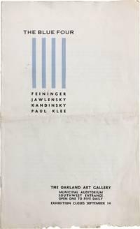 The Blue Four: Lyonel Feininger, Alexey Jawlensky, Wassily Kandinsky, Paul Klee