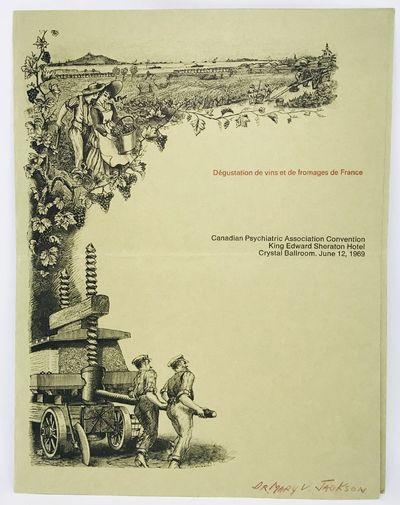 King Edward Sheraton Hotel, 1969. Cards. Tan illustrated cards. Very good. 28 x 22 cm. Large illustr...
