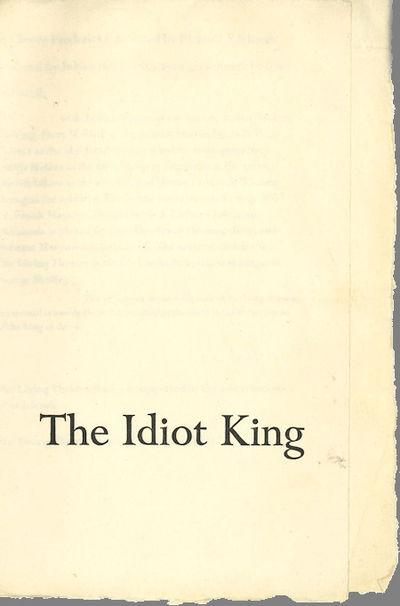 pp. folded leaflet (20.5 x 28 cm unfolded), printed on handmade paper, untrimmed. Horizontal fold, a...