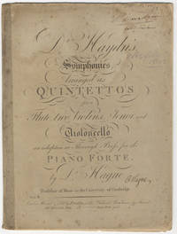 [H. I:44, 63, 75, arr]. Dr. Haydn's Symphonies Arranged as Quintettos for a Flute, two...