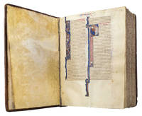 VULGATE BIBLE; illuminated thirteenth-century manuscript on parchment with historiated initials...