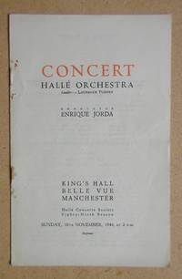 image of Halle Orchestra. Concert Programme. 10th November 1946.
